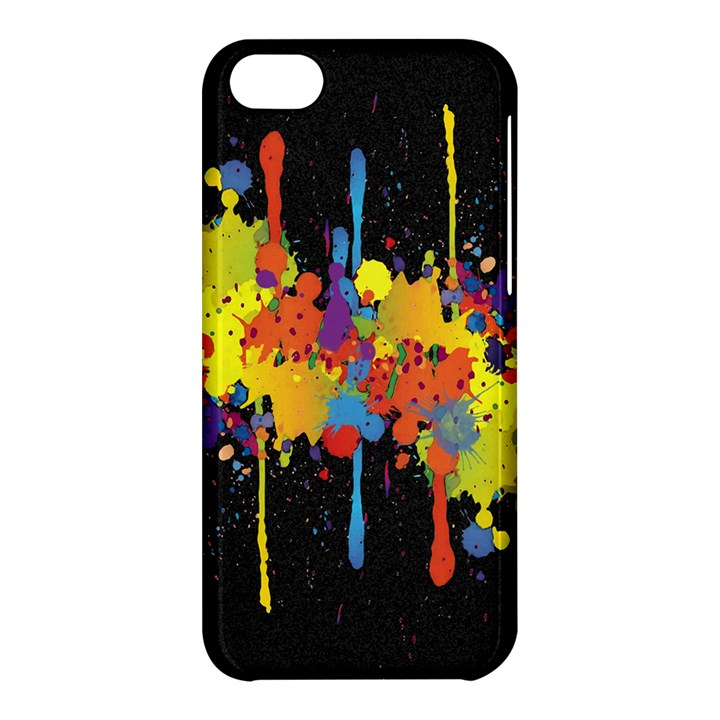 Crazy Multicolored Double Running Splashes Horizon Apple iPhone 5C Hardshell Case