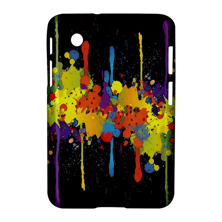 Crazy Multicolored Double Running Splashes Horizon Samsung Galaxy Tab 2 (7 ) P3100 Hardshell Case