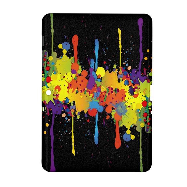 Crazy Multicolored Double Running Splashes Horizon Samsung Galaxy Tab 2 (10.1 ) P5100 Hardshell Case