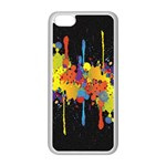 Crazy Multicolored Double Running Splashes Horizon Apple iPhone 5C Seamless Case (White) Front