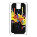 Crazy Multicolored Double Running Splashes Horizon Samsung Galaxy Note 3 N9005 Case (White) Front