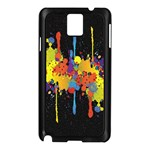 Crazy Multicolored Double Running Splashes Horizon Samsung Galaxy Note 3 N9005 Case (Black) Front