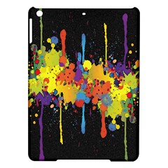 Crazy Multicolored Double Running Splashes Horizon iPad Air Hardshell Cases