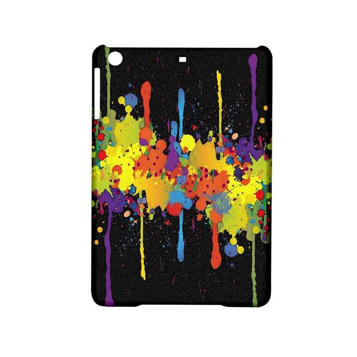 Crazy Multicolored Double Running Splashes Horizon iPad Mini 2 Hardshell Cases