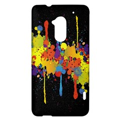 Crazy Multicolored Double Running Splashes Horizon HTC One Max (T6) Hardshell Case