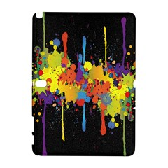 Crazy Multicolored Double Running Splashes Horizon Samsung Galaxy Note 10.1 (P600) Hardshell Case