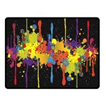 Crazy Multicolored Double Running Splashes Horizon Double Sided Fleece Blanket (Small)  50 x40 Blanket Back