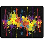 Crazy Multicolored Double Running Splashes Horizon Double Sided Fleece Blanket (Large)  80 x60 Blanket Back
