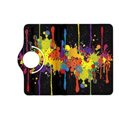 Crazy Multicolored Double Running Splashes Horizon Kindle Fire Hd (2013) Flip 360 Case