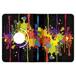 Crazy Multicolored Double Running Splashes Horizon Kindle Fire HDX Flip 360 Case Front