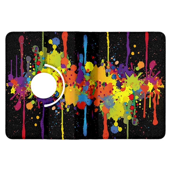 Crazy Multicolored Double Running Splashes Horizon Kindle Fire HDX Flip 360 Case