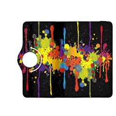 Crazy Multicolored Double Running Splashes Horizon Kindle Fire Hdx 8 9  Flip 360 Case