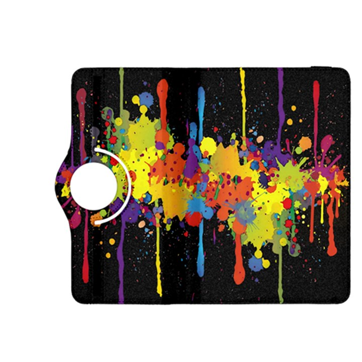 Crazy Multicolored Double Running Splashes Horizon Kindle Fire HDX 8.9  Flip 360 Case