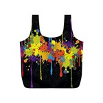 Crazy Multicolored Double Running Splashes Horizon Full Print Recycle Bags (S)  Back