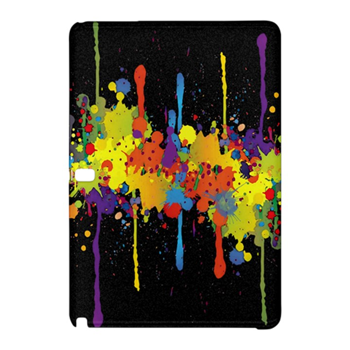 Crazy Multicolored Double Running Splashes Horizon Samsung Galaxy Tab Pro 10.1 Hardshell Case