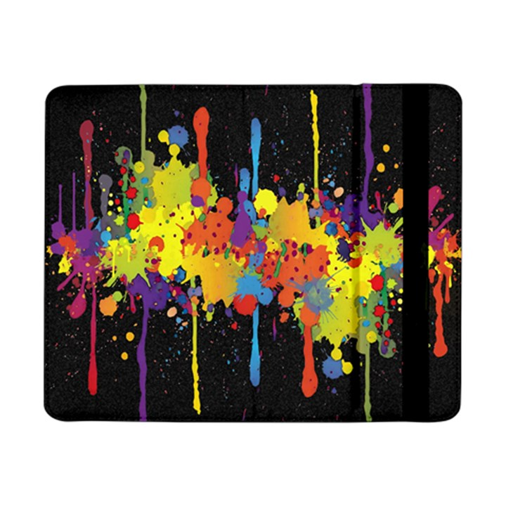 Crazy Multicolored Double Running Splashes Horizon Samsung Galaxy Tab Pro 8.4  Flip Case