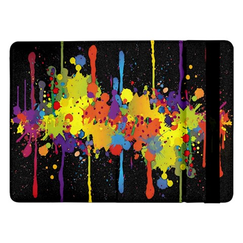 Crazy Multicolored Double Running Splashes Horizon Samsung Galaxy Tab Pro 12.2  Flip Case