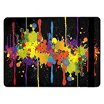 Crazy Multicolored Double Running Splashes Horizon Samsung Galaxy Tab Pro 12.2  Flip Case Front