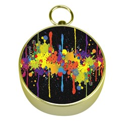 Crazy Multicolored Double Running Splashes Horizon Gold Compasses