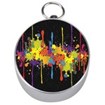 Crazy Multicolored Double Running Splashes Horizon Silver Compasses Front