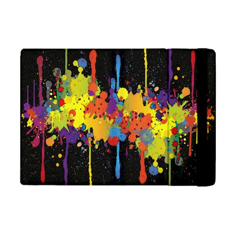 Crazy Multicolored Double Running Splashes Horizon iPad Mini 2 Flip Cases