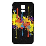 Crazy Multicolored Double Running Splashes Horizon Samsung Galaxy S5 Back Case (White) Front