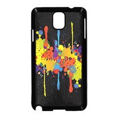 Crazy Multicolored Double Running Splashes Horizon Samsung Galaxy Note 3 Neo Hardshell Case (Black)