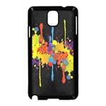 Crazy Multicolored Double Running Splashes Horizon Samsung Galaxy Note 3 Neo Hardshell Case (Black) Front