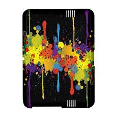 Crazy Multicolored Double Running Splashes Horizon Amazon Kindle Fire (2012) Hardshell Case