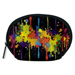 Crazy Multicolored Double Running Splashes Horizon Accessory Pouches (Medium)  Front