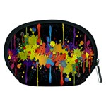 Crazy Multicolored Double Running Splashes Horizon Accessory Pouches (Medium)  Back