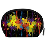 Crazy Multicolored Double Running Splashes Horizon Accessory Pouches (Large)  Back