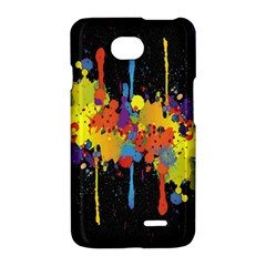 Crazy Multicolored Double Running Splashes Horizon LG Optimus L70