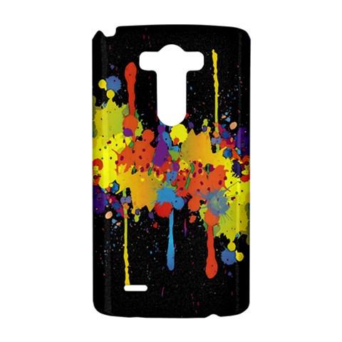 Crazy Multicolored Double Running Splashes Horizon LG G3 Hardshell Case