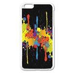 Crazy Multicolored Double Running Splashes Horizon Apple iPhone 6 Plus/6S Plus Enamel White Case Front