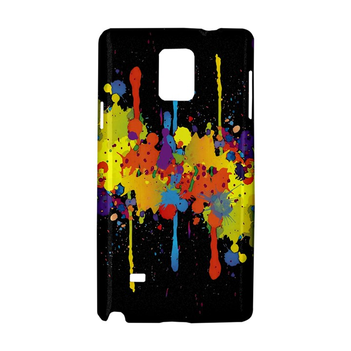 Crazy Multicolored Double Running Splashes Horizon Samsung Galaxy Note 4 Hardshell Case