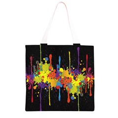 Crazy Multicolored Double Running Splashes Horizon Grocery Light Tote Bag