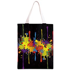 Crazy Multicolored Double Running Splashes Horizon Classic Light Tote Bag