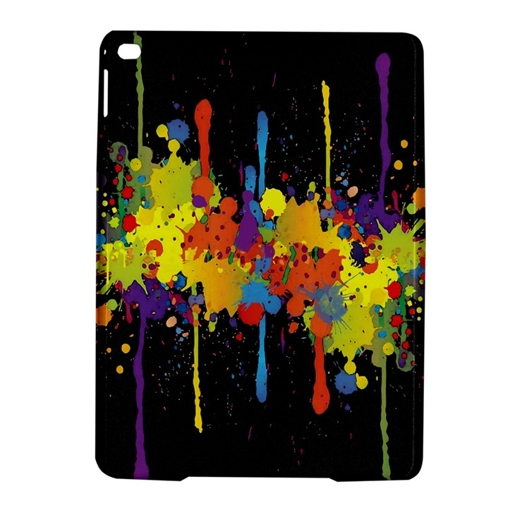 Crazy Multicolored Double Running Splashes Horizon iPad Air 2 Hardshell Cases