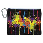 Crazy Multicolored Double Running Splashes Horizon Canvas Cosmetic Bag (XXL) Front