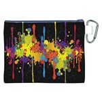Crazy Multicolored Double Running Splashes Horizon Canvas Cosmetic Bag (XXL) Back