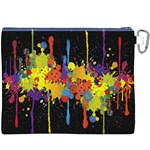 Crazy Multicolored Double Running Splashes Horizon Canvas Cosmetic Bag (XXXL) Back