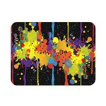 Crazy Multicolored Double Running Splashes Horizon Double Sided Flano Blanket (Mini)  35 x27 Blanket Back