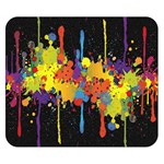Crazy Multicolored Double Running Splashes Horizon Double Sided Flano Blanket (Small)  50 x40 Blanket Back