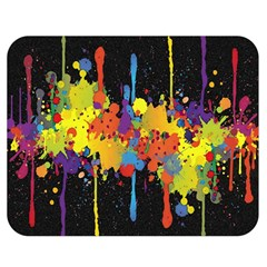 Crazy Multicolored Double Running Splashes Horizon Double Sided Flano Blanket (medium)