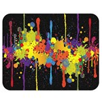 Crazy Multicolored Double Running Splashes Horizon Double Sided Flano Blanket (Medium)  60 x50 Blanket Back
