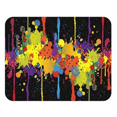 Crazy Multicolored Double Running Splashes Horizon Double Sided Flano Blanket (Large)