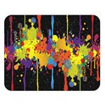 Crazy Multicolored Double Running Splashes Horizon Double Sided Flano Blanket (Large)  80 x60 Blanket Front