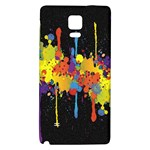 Crazy Multicolored Double Running Splashes Horizon Galaxy Note 4 Back Case Front