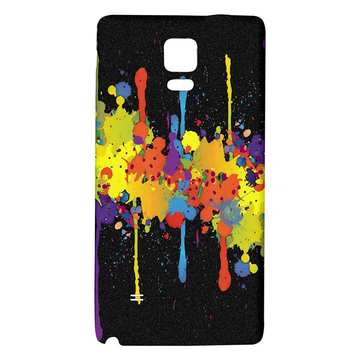 Crazy Multicolored Double Running Splashes Horizon Galaxy Note 4 Back Case